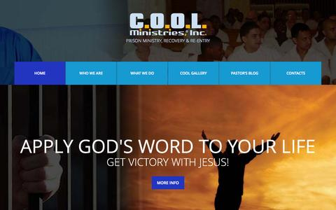 Screenshot of Home Page coolministries.net - COOL Ministries, Inc. | Prison Ministry, Recovery & Re-entry - captured Oct. 3, 2015