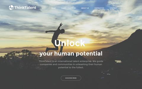 Screenshot of Home Page thinktalent.eu - Unlock - ThinkTalent - captured Feb. 29, 2016