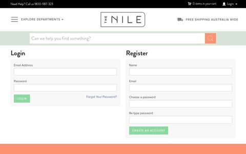 Screenshot of Login Page thenile.com.au - The Nile - Buy Books, Baby, Toys online - captured Dec. 4, 2016