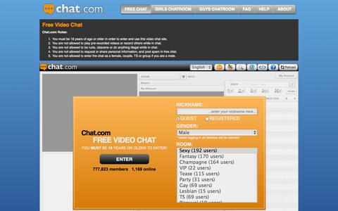 Screenshot of Home Page chat.com - Chat - Free Video Chat From Chat.com - captured Sept. 23, 2014