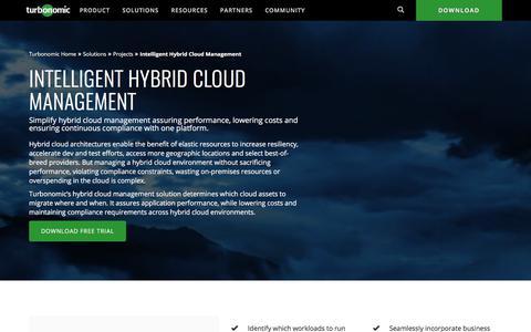 Intelligent Hybrid Cloud Management & Cloud Bursting