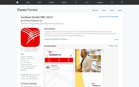 Cardinal Health RBC 2014 on the App Store