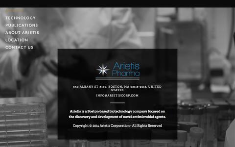 Screenshot of Home Page arietis.org - Arietis - captured Oct. 4, 2014