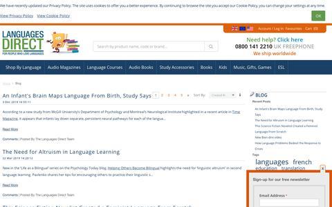 Screenshot of Press Page languages-direct.com - Blog - captured Feb. 17, 2020
