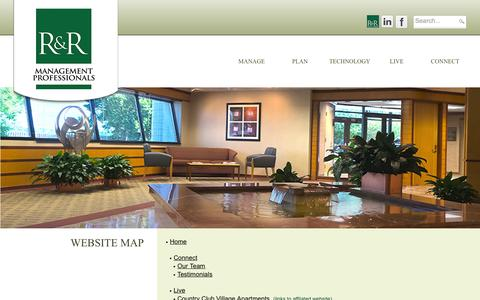 Screenshot of Site Map Page managementprofessionalsinc.com - Management Professionals Inc. > WebSite Map - captured Oct. 4, 2014
