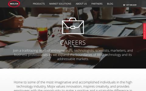 Screenshot of Jobs Page mojix.com - Careers - Mojix Inc. - captured July 14, 2016