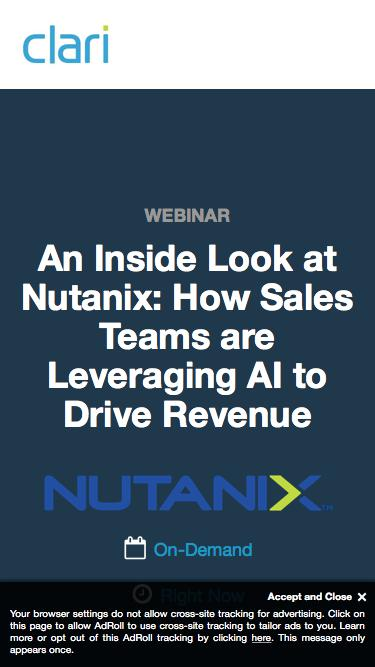 Webinar on Demand: An Inside Look at Nutanix -  How Sales Teams are Leveraging AI to Drive Revenue