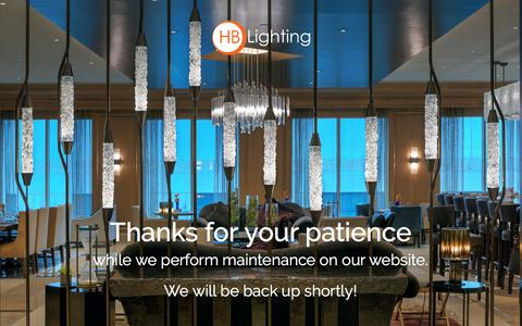 Screenshot of Home Page hblightinginc.com - HB Lighting - captured Sept. 25, 2018
