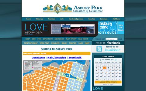 Screenshot of Maps & Directions Page asburyparkchamber.com - Asbury Park Chamber of Commerce, New Jersey 07712 - captured Nov. 5, 2014