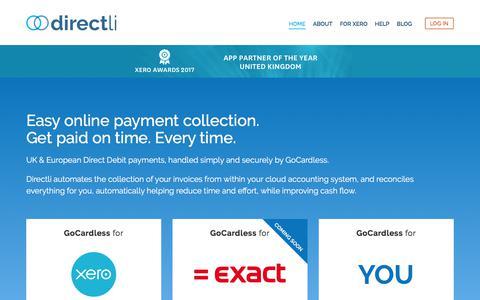 Screenshot of Home Page directli.co.uk - Home - Directli - captured Aug. 7, 2018