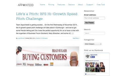 Screenshot of Blog appointedd.com - Appointedd Small Business Blog | Appointedd - captured Nov. 2, 2014
