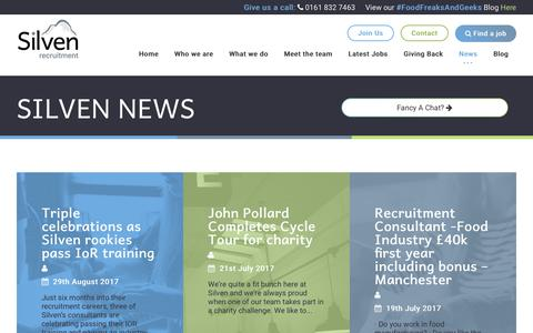 Screenshot of Press Page silven.co.uk - Silven News - Silven Recruitment - captured Oct. 21, 2017