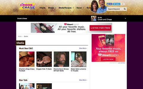 Screenshot of Press Page iheart.com - Get Top Podcasts, Interviews & Videos from Crook & Chase - captured Jan. 21, 2017