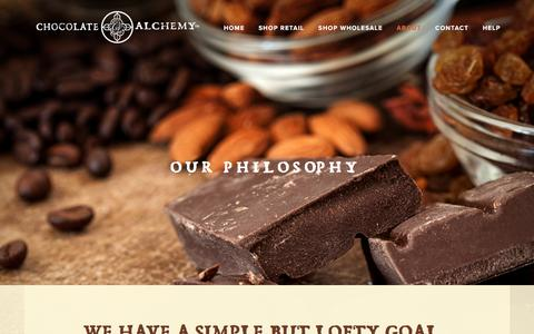 Screenshot of About Page chocolatealchemy.com - About — Chocolate Alchemy - captured May 16, 2017