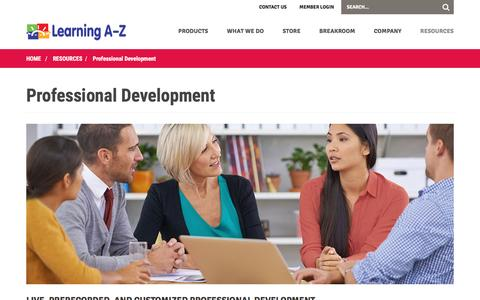 Professional Development Training, Support Services, & Webinars For Customers - Learning A-Z
