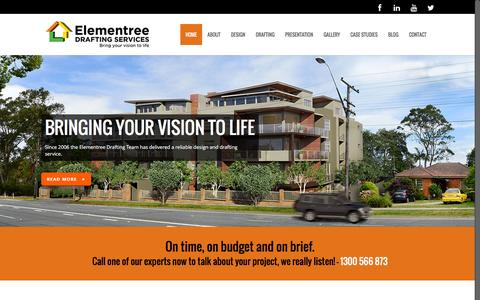 Screenshot of Home Page elementreedrafting.com.au - Drafting Services Sydney - captured Dec. 27, 2015
