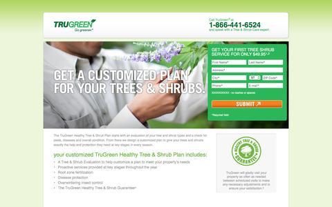 Screenshot of Landing Page trugreen.com - TruGreen | Free Analysis - captured May 21, 2016