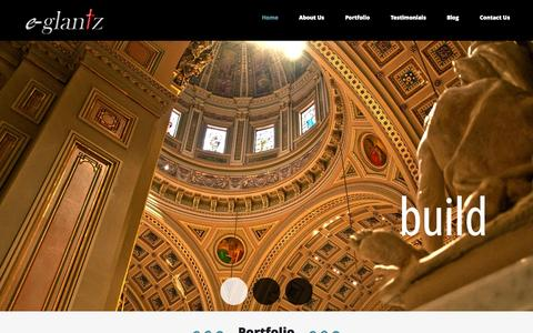 Screenshot of Home Page eglantz.com - Welcome to e-Glantz   e-Glantz - captured Sept. 20, 2015