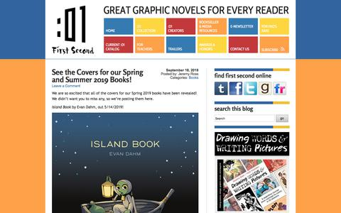Screenshot of Home Page firstsecondbooks.com - First Second Books - Great Graphic Novels for Every Reader - captured Sept. 23, 2018