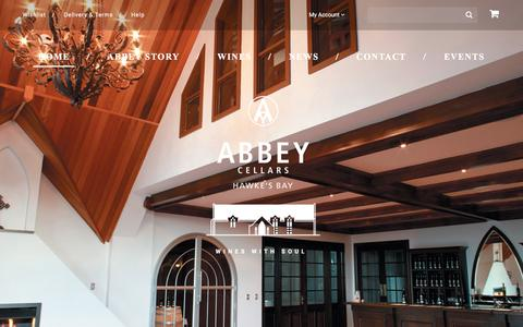 Screenshot of Home Page abbeycellars.com - Abbey Cellars Winery | Wines With Soul - captured March 16, 2016