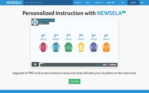 Newsela | About Pro Features
