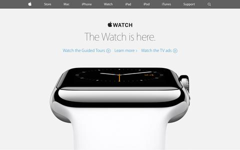 Screenshot of Home Page apple.com - Apple - captured May 13, 2015