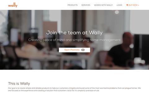Screenshot of Jobs Page wallyhome.com - Careers | Wally - captured June 23, 2017