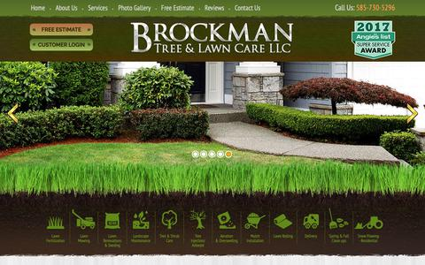 Screenshot of Site Map Page brockmantreeandlawncare.com - Sitemap, Fairport, Pittsford, New York, NY - captured Oct. 6, 2018