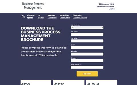 Screenshot of Landing Page knect365.com - Business Process Management - captured Feb. 26, 2017