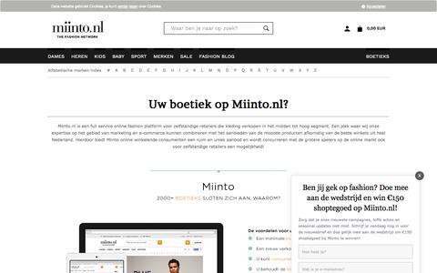Screenshot of Signup Page miinto.nl - Kleding | Shop kleding online van de favoriete plaatselijke boetieks | miinto.nl - captured Sept. 4, 2016