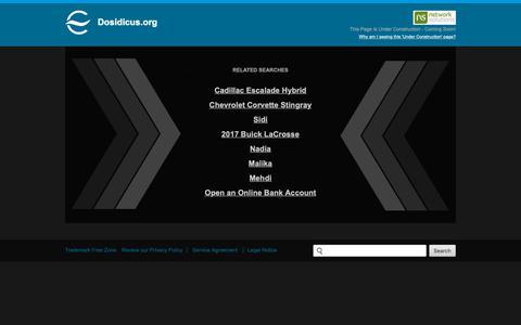 Screenshot of Home Page dosidicus.org - Dosidicus.org - captured Nov. 14, 2018