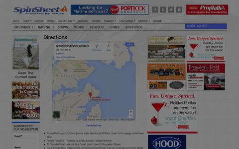Screenshot of Maps & Directions Page spinsheet.com - Directions - SpinSheet - captured Sept. 19, 2014