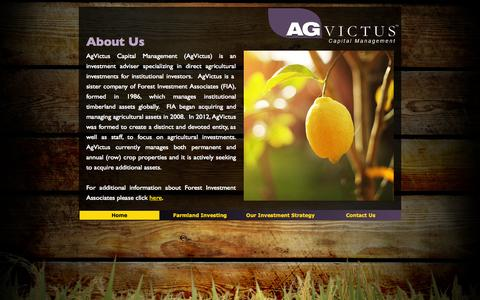 Screenshot of About Page agvictus.com - AgVictus Capital Management - captured Oct. 4, 2014