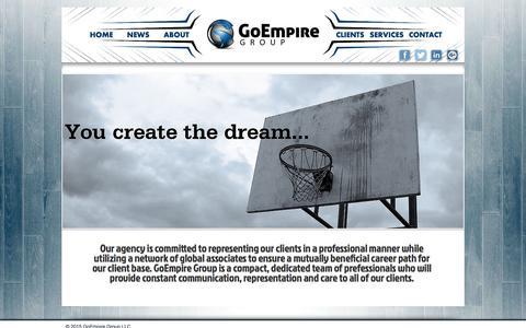 Screenshot of Home Page goempiregroup.com - GoEmpire Group - captured May 10, 2017