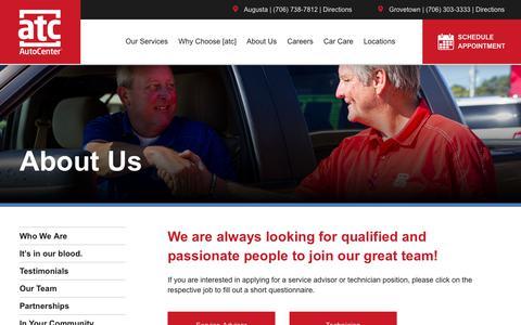 Screenshot of Jobs Page atcautocenter.com - Careers   [atc] AutoCenter - captured Sept. 21, 2018