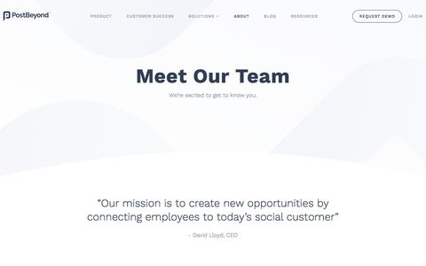 Screenshot of About Page postbeyond.com - About Us - PostBeyond - captured April 18, 2018