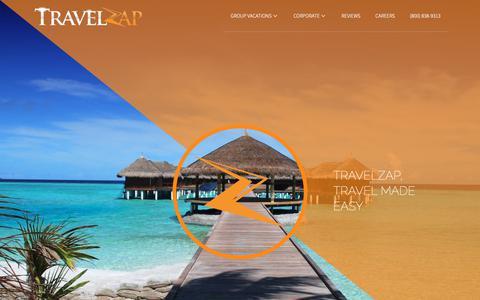 Screenshot of Home Page travelzap.com - TravelZap - Group Travel - captured Dec. 13, 2018