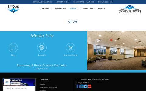 Screenshot of Press Page leesar.com - News Blog and Media Contact Information - LeeSar - captured Oct. 22, 2018