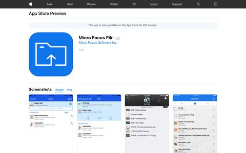 Micro Focus Filr on the AppStore