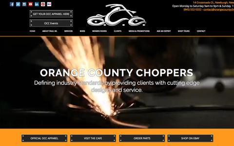 Screenshot of Home Page orangecountychoppers.com - Orange County Chopper - captured Aug. 17, 2016