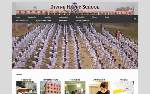 Screenshot of Home Page dhsbgp.com - Divine Happy School | Divine Happy School, Bhagalpur - captured Jan. 21, 2016