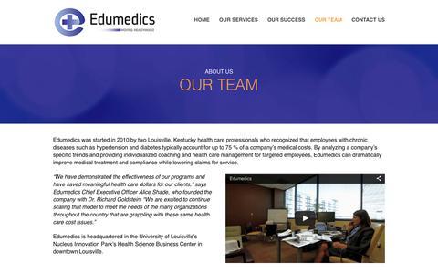 Screenshot of Team Page edumedics.com - Our Team | Edumedics - captured Dec. 3, 2015