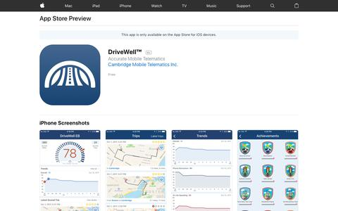 DriveWell™ on the App Store