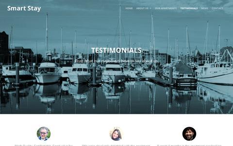Screenshot of Testimonials Page smartstay.co.uk - Testimonials - Smart Stay - captured Oct. 22, 2017