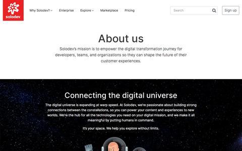 Screenshot of About Page solodev.com - Web Design Software Company | Solodev - captured July 30, 2019