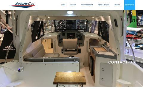 Screenshot of Contact Page arrowcat.com - Contact Us - ArrowCat Marine | Offshore Power & Fishing Catamarans - captured Oct. 4, 2018