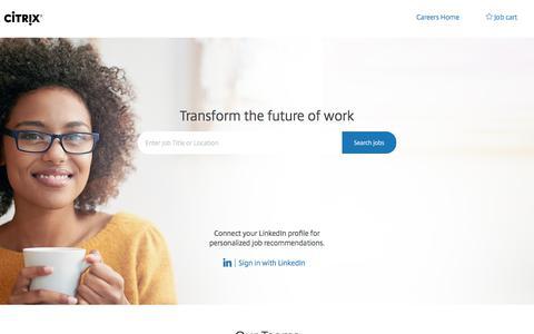 Careers at Citrix   Citrix job opportunities