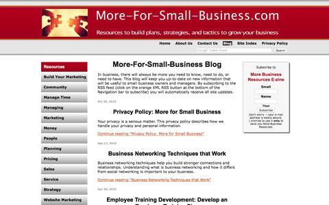 Screenshot of Blog more-for-small-business.com - More-For-Small-Business Blog - captured Dec. 10, 2016