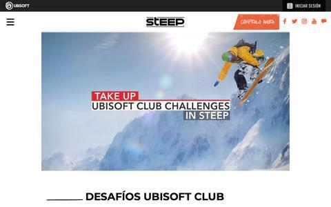 Screenshot of Press Page ubisoft.com - Desafíos Ubisoft Club | Steep - Disponible ahora para PS4, Xbox One & PC | Ubisoft (MX) - captured Nov. 8, 2019