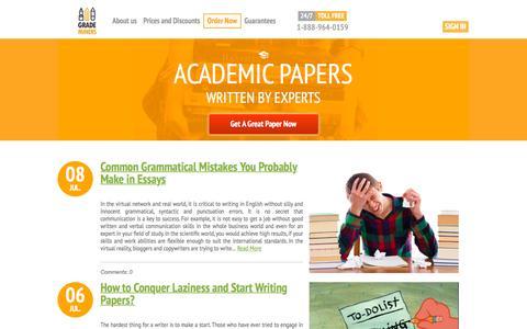 Screenshot of Blog grademiners.com - Blog - captured July 17, 2016